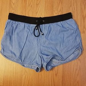 🎉2/$10🎉 Forever 21 Contemporary chambray shorts